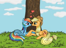 AppleDash under a tree by Brush-Sweep