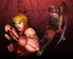 Ken Masters Street Fighter Wallpaper by 1KamZ