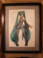 Hatsune Miku Cross Stitch by Danieltgk