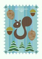 Holiday Card Squirrel by daabcreative