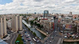 Bucharest from above by ScorpionEntity