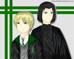 Draco and Snape - Coloured by LiviDela