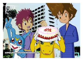 Digimon 10th Anniversary by Khein-Shasoumi