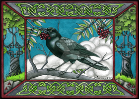 Celtic knot crow Wiccan raven by candcfantasyart
