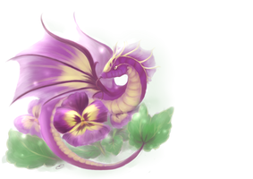 Purple Pansy Florgon by Yufika