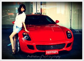Beauty Red Ferrari by adiluhung