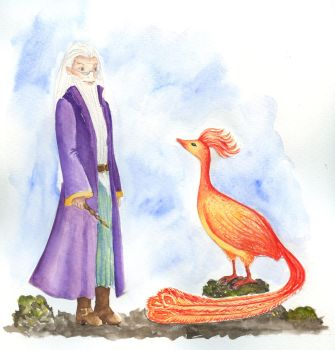 How Fawkes met Dumbledore by Contessa-Corvulus