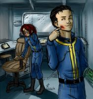 Fallout 3 - Nosebleed by psycrowe