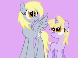 Derpy And Dinky by MISAMISA25