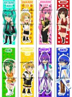Vocaloid Bookmarks by illuminatedflower