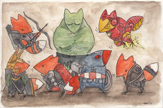 Chickenfox Avengers by ChickenfoxStudios