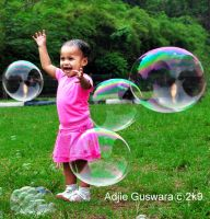playing bubbles by adjieguswara-art