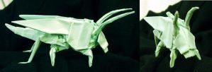 Origami Grasshopper by stasher-dragon