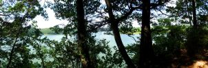 Green River Lake Panorama by JjMcKinney