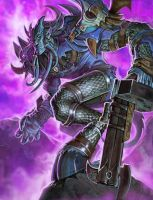 Draenai from World of Warcraft card games by Steve-Ellis