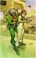 Man-at-Arms and Teela - colors by sobreiro