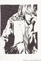 Light Yagami: Black and White by super0kawaii0kitty