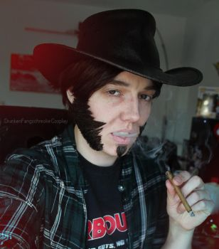Blackwatch McCree cosplay Make up test by DrunkenFangschrecke