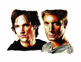 Sam and Dean by StoneTheCrow87