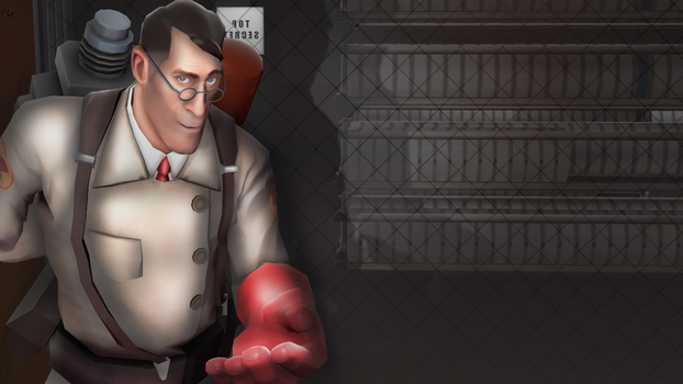 TF2 Medic Doing Er..Something by SophieStinsonRandom