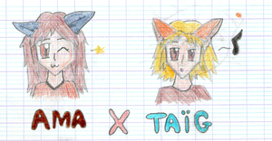 Another old drawing : Ama and Taig by Nattsu-San