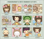 Summary of Art 2011 by SqueakyToybox
