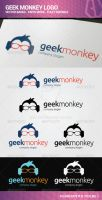 Geek Monkey Logo by flatsguts