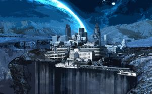 London on another planet by Qels
