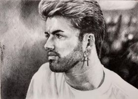 George Michael (circa 1988) by dtomasowa