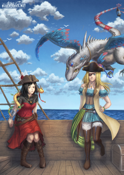 Pirates and Dragons by Kaorien
