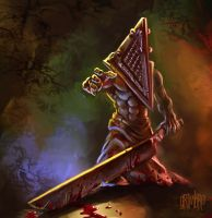 Lil' Pyramid Head by Grimbro