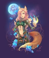 Moon-fox by Rockwitchseiya