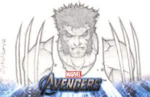 Avengers Assemble Sketchcard - Logan by theopticnerve