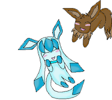 glaceon and eevee by LavenderChanx