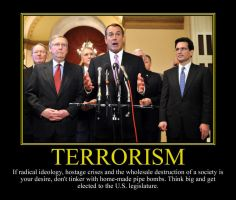 Terrorism Motivational Poster by DaVinci41
