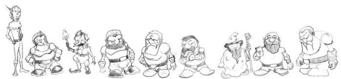 Dwarves Comic Characters by SonofReorx