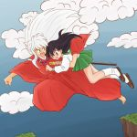 Inuyasha and Kagome - Jumping across by Anigh