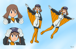 May Wingsuit Concept Sheet - Coloring Commission by The-Sakura-Samurai