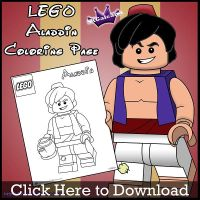Lego Aladdin Coloring Page by SKGaleana by SKGaleana