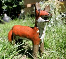 Stoneware fox by Giesji
