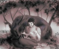 Hannibal twitter requests - Will and Ravenstag by FuriarossaAndMimma