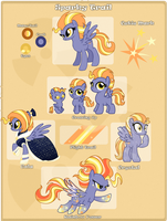 MLP OC: Sparky Trail Reference by leKelBel