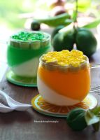 Pina Colada with Lemon and Lime Jello by theresahelmer