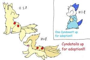 Cyndowatt and Cyndatail Adoptables- CLOSED by SkittyKittyCat