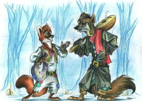 Jim the Bloody and Wilber Limp by FortunataFox