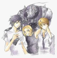 FMA and Death Note fanart by Azu1982