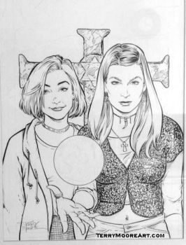 Willow and Tara by TerryMooreArt