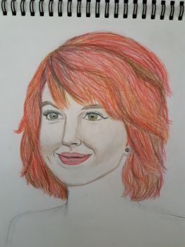 old experimental sketch: hayley williams by terin814