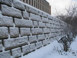 Snow-Blasted Wall by Tustin2121