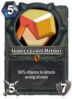 Jasper's Crash Helmet Hearthstone Card by HackalotSpark
